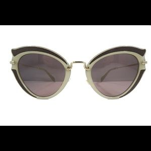 Miu Miu Prada Women's Gray Cat Eye Sunglass SMU05S